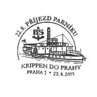 erstes Prager Dampfschiff Sonderstempel
