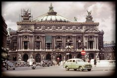 Paris Opera House in Vintage 1952 Photo from Original Image 12x8