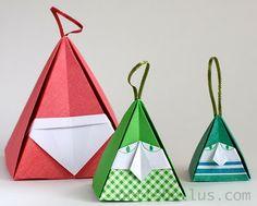 Christmas Origami: Santa and Elf Diy Origami, Bunny Origami, Origami Christmas Tree, Origami Cards, Origami Ornaments, Origami Gifts, Cute Origami, Origami And Kirigami, Christmas Origami
