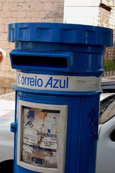 Blue mail box by Teo_M, via Flickr