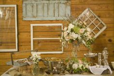 love the antique door and windows