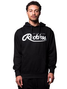 Young and Reckless Mens - Tops - Hoodies Big R Script Hoodie- Black Mens  Tops 342ac6106