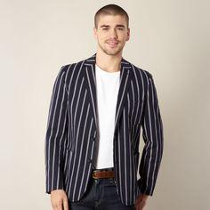 Jasper Conran navy narrow striped blazer