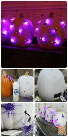 Halloween decorating ideas: How to make creepy crawly pumpkins