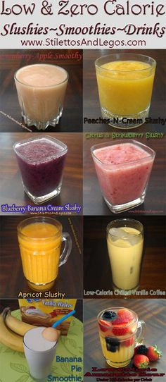 Low Calorie Drinks ~ Zero Calorie Drinks ~ Zero Weight Watchers PointsPlus ~ Slushies, Smoothies, and Drinks