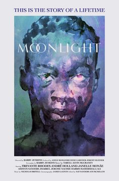 """antoniostella: """"Poster for """"Moonlight"""" - 2016 by Barry Jenkins. """" Good luck at the 89th Academy Awards!"""