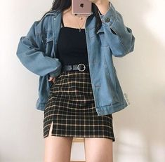 - Source by mariawagnerlif - # Outfits coreanos Edgy Outfits, Cute Casual Outfits, Preppy Outfits, Mode Outfits, Korean Outfits, Retro Outfits, Vintage Outfits, Girl Outfits, Fashion Outfits