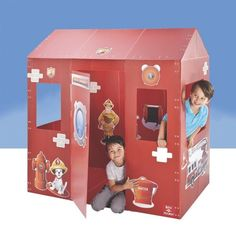 Box-o-Mania Fire Station Play Box Kit « Game Searches 4 Kids, Kids Toys, Children's Toys, Kit Games, Geometric Heart, Adventure Games, Toy Rooms, Kid Spaces, Toddler Crafts