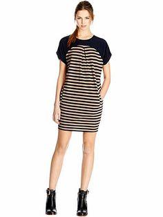 Stripe cocoon sweater dress