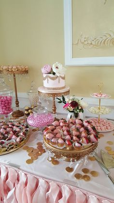 Cakes & Catering by Love is in the Air ~ Gold Chandelier Cake Stands created by Opulent Treasures