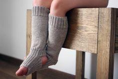 Alpaca wool knit leg warmers, light gray, beige knitted leg warmers for baby…