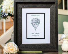 Super Birthday Gifts For Best Friend Long Distance Map Art Ideas Birthday Present For Husband, Birthday Cards For Boyfriend, Birthday Gifts For Best Friend, Sister Birthday, Best Friend Gifts, Wedding Vow Art, Thanksgiving Place Cards, Long Distance Relationship Gifts, Birthday Card Template