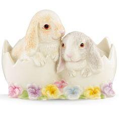 Bunnies In Eggshell Figurine By Lenox