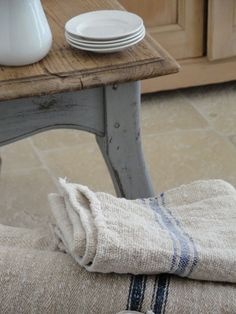 rough french linen