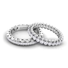 Wedding bands from the Petalo collection.