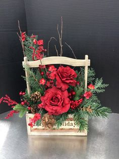 Country Christmas custom floral by Andrea for Michaels Round Rock