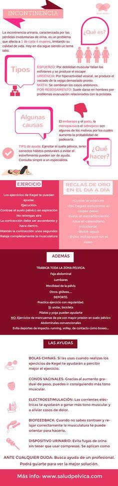 Infografia especial INCONTINENCIA URINARIA. Entrena el SUELO PELVICO y VEJIGA para vencerla