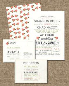 VINTAGE WEDDING INVITATIONS.