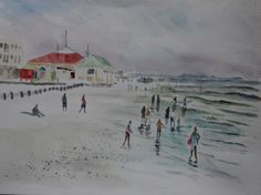 Plein air painting outing Muizenberg corner. South Africa, Art Projects, History, Beach, Cape, Corner, Pictures, Painting, Ideas