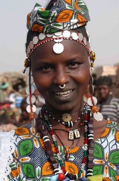 Africa | Peul (Fulani / Peulh) woman. Burkina Faso | Photographer unknown