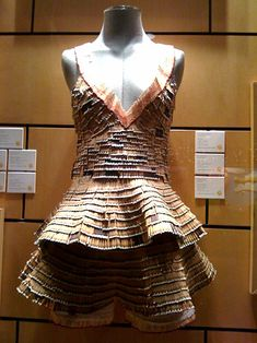 This matchstick dress was made by an 18-year-old student named Lily Faget.    http://mentalfloss.com/article/26418/10-amazing-matchstick-sculptures#ixzz2I8U49GTz   --brought to you by mental_floss!