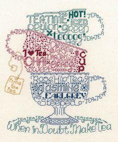 Let's Do Tea - Cross Stitch Pattern