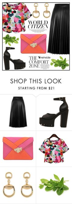 """""""Summer Outfit!"""" by misskarolina ❤ liked on Polyvore featuring Aviù, Corto Moltedo and Gucci"""