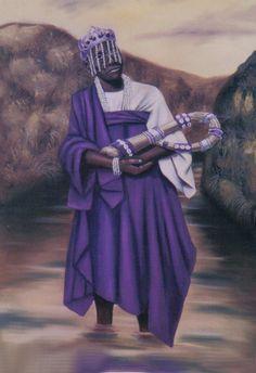 Naná Burúkú - En algunas leyendas la consideran esposa de Oxalá y madre de Omolú y Oxumaré .  Misteriosa , puede vivir en ríos y pantanos . Relacionada con la muerte y los ancestros ,su nombre y funciones en África varía mucho de región en región....