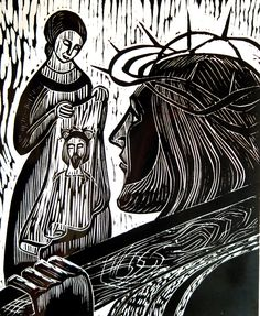 6th Station ~ Veronica wipes the face of Jesus - by  Sister Mary Grace, OP