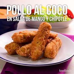 Video de Pollo al Coco en Salsa de Mango y Chipotle Authentic Mexican Recipes, Mexican Food Recipes, Cooking Recipes, Healthy Recipes, Cooking Eggs, Cooking Dishes, Cooking Aprons, Cooking Rice, Fire Cooking