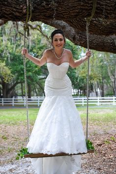 Who says a bride can't have some fun on her wedding day http://celebrationsoftampabay.com/photographers-pasco-county/