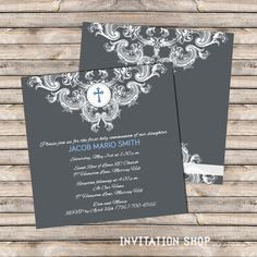 Genuine Grace Communion Invitations  First Holy by InvitationShop, $1.10