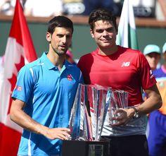 Novak Djokovic et Milos Raonic finale BNP Paribas Open Indian Wells 2016