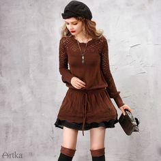 Artka вязаное платье-туника. осень-2016   Artka шерстяное ретро платье-туника с длинным рукавом. Один размер, 3 цвета: коричневый, синий, красный. Ткань: 50% шерсть, 50% акрил. Заказы на сайте: bohomagic.ru, доставка от 2 недель. #бохо #boho #bohochic #бохошик #бохоодежда #girl #woman #мода #fashion #осень #artka #артка #интернетмагазин #одежда #шоппинг #женскаяодежда #стиль #bohomagic #магиябохо #платье #dress #туника #bohemia #богемный #ретро #retro #винтаж #vintage #бохоплатье #бохотуника