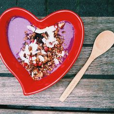 Instagram star Ksenia Avdulova shares three awesome breakfast recipes—and why you should start your day with a nourishing meal—in a heart-shaped bowl.