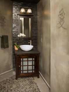 Asian Bathroom Design [ Wainscotingamerica.com ] #Bathrooms #wainscoting #design