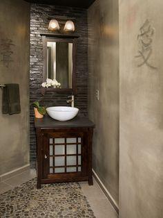Asian Bathroom Design [ Wainscotingamerica.com ] #Bathrooms #wainscoting #design
