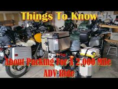 (2) Things To Know About Packing For A 2k Mile ADV Ride - YouTube