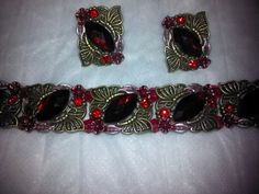 Stunning Red Bracelet and Earring set by BJDevine on Etsy