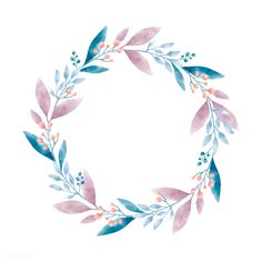 Watercolor wreath graphic vector design | free image by rawpixel.com / Aum Watercolor Flower Wreath, Watercolor Leaves, Watercolor Paintings, Watercolor Design, Flower Background Wallpaper, Flower Backgrounds, Flower Circle, Flower Frame, Instagram Highlight Icons