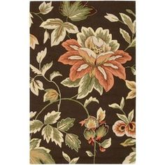 Nourison French Country Chocolate 3 ft. 6 in. x 5 ft. 6in. Area Rug - 032607 - The Home Depot