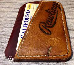 Vince Johnson Baseball Glove Thin Wallet