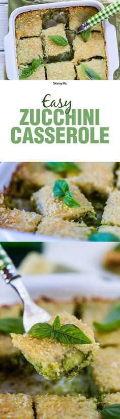 The Skinny Ms. Easy Zucchini Casserole is a hearty, warming option for dinner!