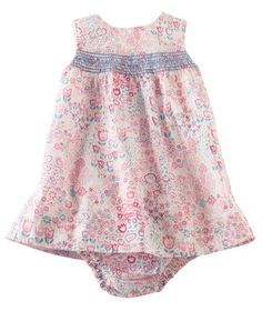 Darling smocked sundress with matching bloomers for baby girl at Hallmark Baby