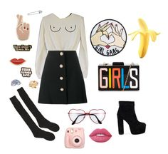 """Free The Nipple"" by natalielovesy0u ❤ liked on Polyvore featuring Miu Miu, Samantha Holmes, Georgia Perry, Eye Candy, Yvng Pearl, ban.do, Lime Crime and Fujifilm"