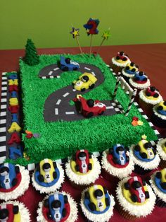 Race track cake designed and made by Fantasia Bakery.