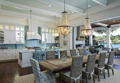 coastal kitchen + dining room | Lisa Publicover Interior Design