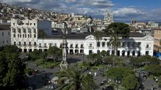 Plaza Grande (previously Plaza de la Independencia) seen from Quito Primate Cathedral, Centro Historico (Old town)  | http://PhilosBooks.com