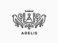 Logo for leather accessories manufacturers. Identity Design, Brand Identity, Book Portfolio, Brand Symbols, Bird Logos, Wedding Logos, Graphic Design Layouts, Cool Logo, Logo Design Inspiration