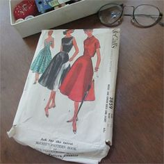 This original vintage McCalls Pattern #3859 is a printed dress  jacket pattern, copyrighted 1956.   Size 16   Bust 36   17 piece pattern (cut). All pieces are intact in good condition  original instructions. Suggested fabrics  notions requirements included (on envelope)   Copyright 1956, by McCall Corporation.   Envelope is in fair to good condition with some tears  creases. Wear is showing on the seams.   Marked Easy Rule.   Go from casual to elegant easily with this classic style. Great…